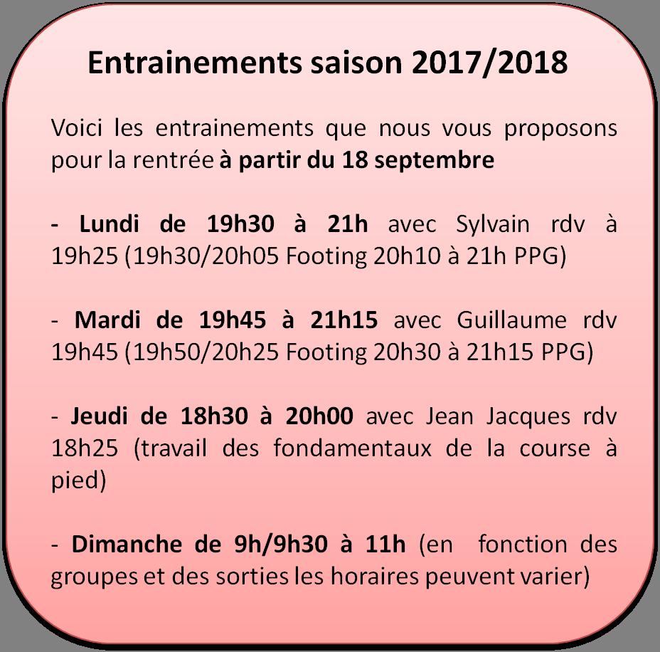Entrainement 2017 2018